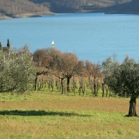 Lago di Montedoglio in Valtiberina Toscana